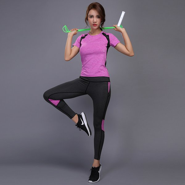 2019 set ladies fitness yoga clothes yoga fitness dry ladies sportswear suit women gym clothing sports equipment exercise M-XL