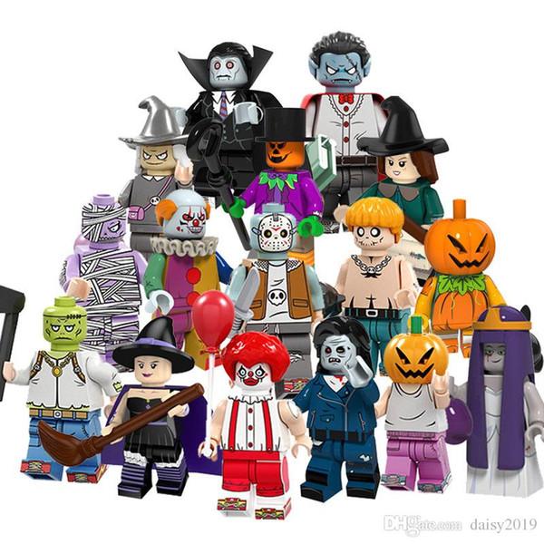 Halloween Clown Witch Zombie Spaventapasseri Matrimonio Fantasmi Pumpkin Man Vampire Giocattoli PG8171