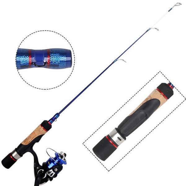 Buz Olta Reel Combo Orta Işık Hızlı Eylem Çoklu Tür Walleye Levrek Panfish Bluegill Crappie Cam Elyaf