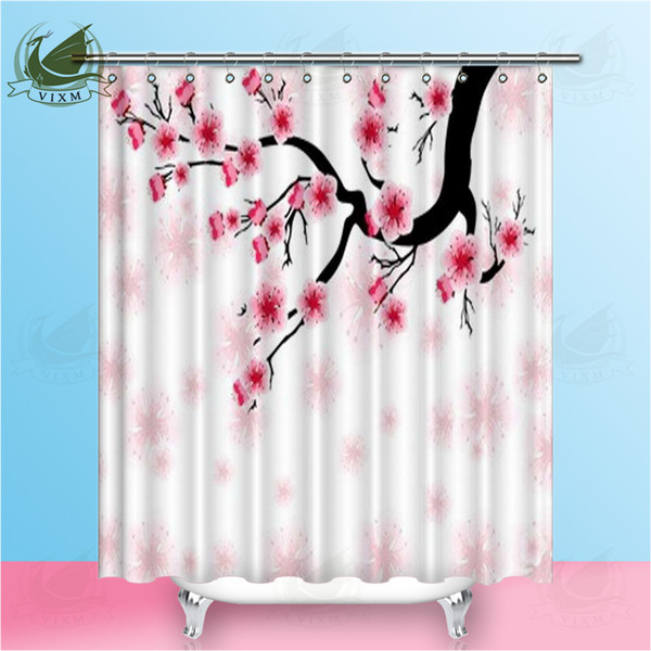 Vixm Ink Style Winter Sweet Vintage Background Shower Curtains Polyester Fabric Curtains For Home Decor