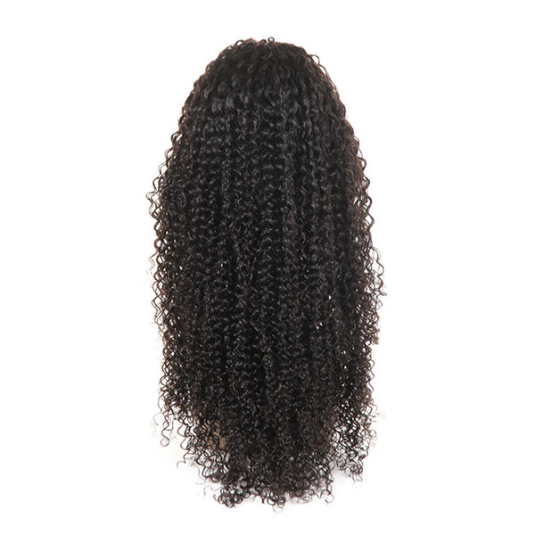 Wigs Brazilian Virgin Kinky Curly Human Hair 4x4 Lace Front Wig for Black Women with 1b Natural Color 8-26 Inch Glueless Free Part