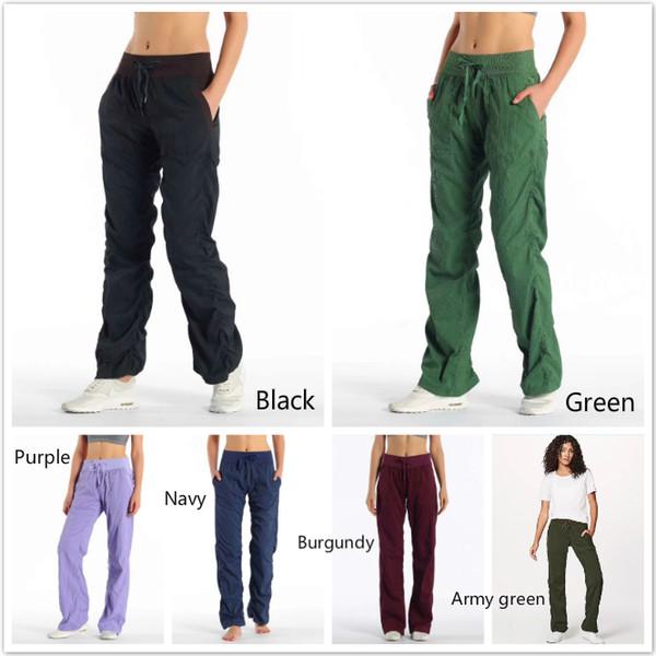 best selling LU Canada Brand Women Yoga lose studio pants Joggers Only Sport Women Fitness Gym Sport Workout Lu|emon Pants