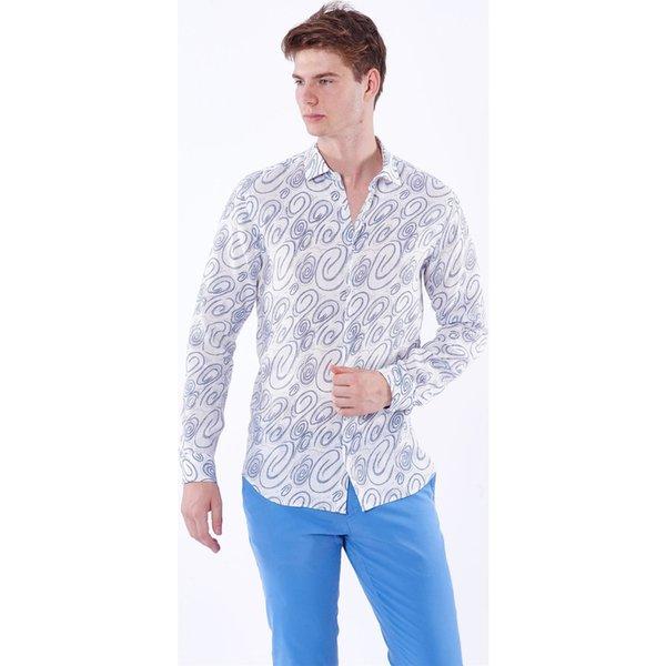 Dufy Men's Printed Shirt Ship from Turkey HB-002879579