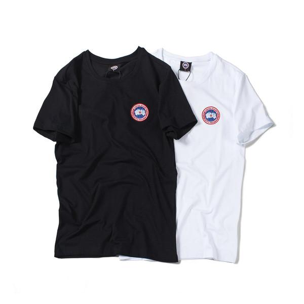 19ss Nouvelle Arrivée Canada Lovers Coton T-shirts Paris Oie Impression À Manches Courtes D'été Tee Respirant Gilet Chemise Streetwear En Plein Air T-shirt