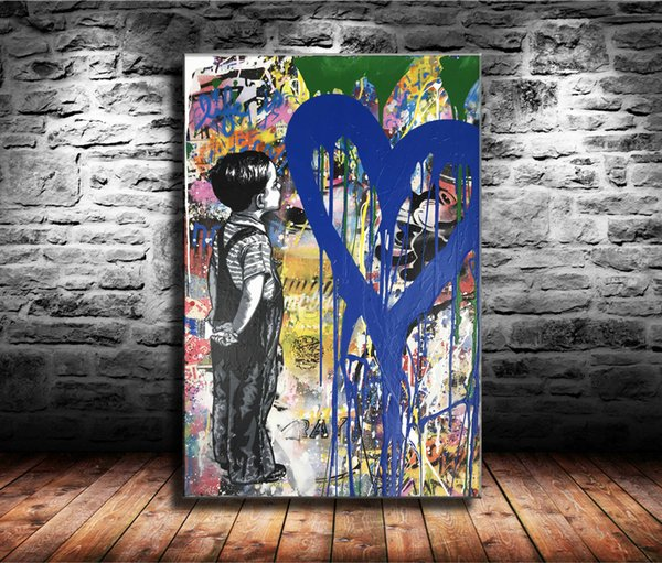 With All My Love,1 Pieces Canvas Prints Wall Art Oil Painting Home Decor (Unframed/Framed)