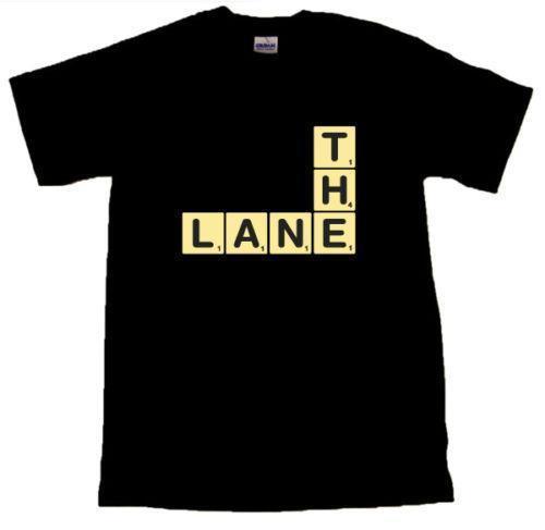 Scrabble Letters The Lane - Spurs Black T-SHIRT in allen Größen