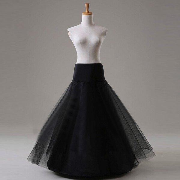 Blanco o Negro tul enagua de la boda vestido de novia largo de la enagua de la crinolina de la enagua falda de las muchachas Pettycoat