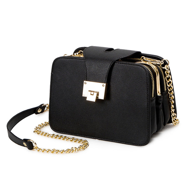 2019 Spring New Fashion Women Shoulder Bag Chain Strap Flap Designer Handbags Clutch Ladies Messenger s With Metal Buckle
