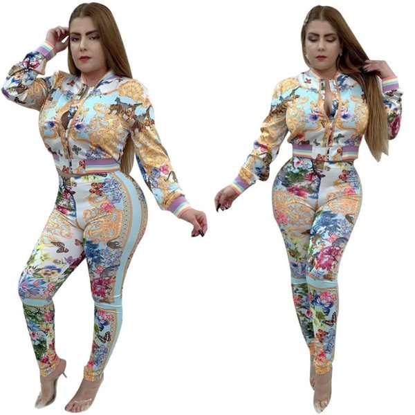 womens long sleeve two piece set outfits tracksuit sportswear jacket trousers sweatsuit hoodie pants cardigan bodycom sportswear hot klw3107
