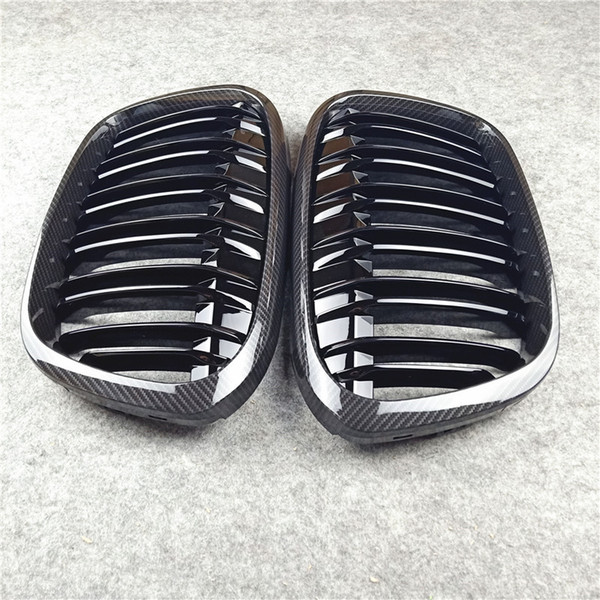 top popular 1 Pair Right & Left 2-Slat Mesh Grilles Replacement Strong ABS Material Front Racing Grill Grille For X1 F48 F49 2021