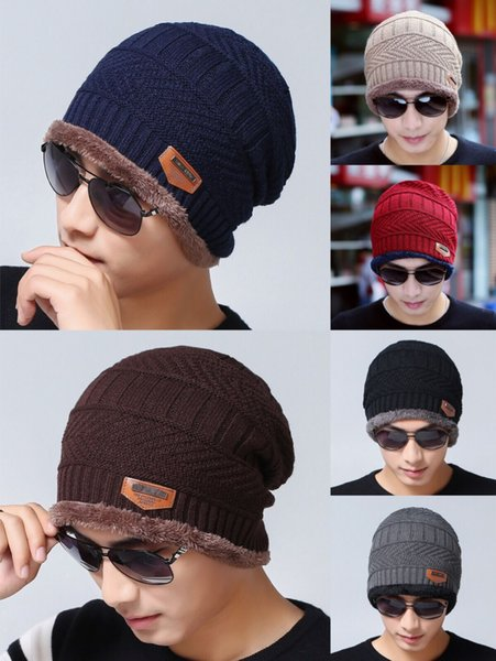 Beanie Hat Scarf Set Knit Hats Warm Thicken Fleece Winter Hat for Men Women Adult Kids Unisex Cotton Beanie Knitted Caps Christmas Gifts DHL