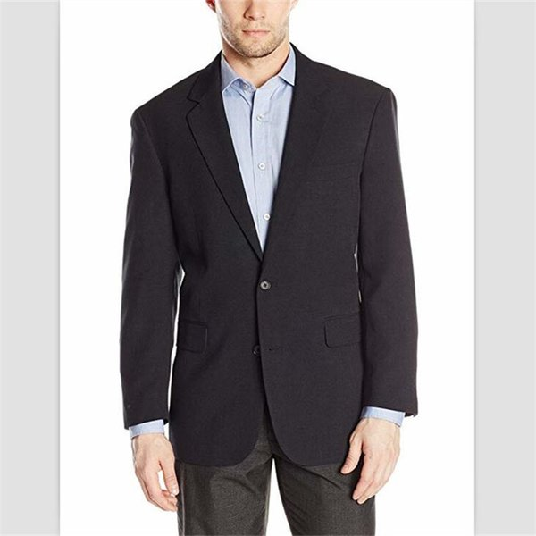 2018 On Sale 2 Pieces Two Buttons Navy coat pant design images Classic Fit mens wedding suits Tuxedos Custom Mens Suits (Jacket+Pants+Vest)