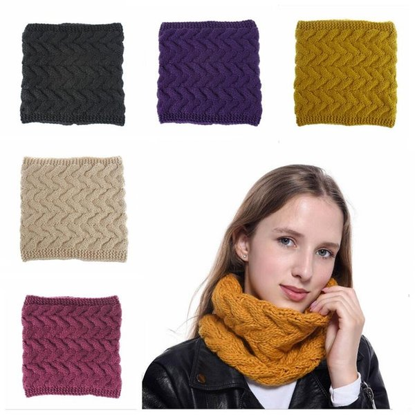 Designer Scarf Women Man Winter Warmer Fashion Knitted Scarves Neck Circle Collar 8 Colors Warm Thick Loop Scarves Free Shipping
