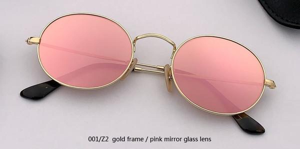 001 / Z2 الذهب / مرآة الوردي عدسة زجاجية