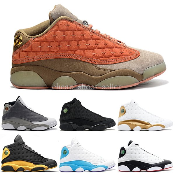 2019 Clot 13s Mens Basketball Shoes Bred Melo Black Cat Atmosphere Grey DMP Flint He Got Game Designer Outdoor Sports Sneakers US 7-13
