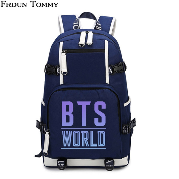 BTS Backpack Comfortable High quality Hip Hop BTS EXHIBITION BOOK O'LN Printed Canvas teenagers Traval Backpacks Stylish