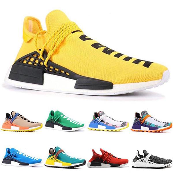 2018 Barato al por mayor en línea Raza humana Pharrell Williams X Sports Running Shoes moda de lujo para hombre mujer diseñador sandalias zapatos