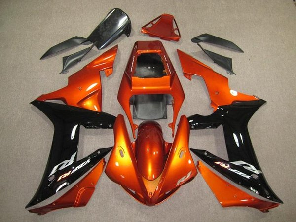 3Gifts New Fairings Kits Fit For Yamaha YZF 1000 R1 02 03 YZF-R1 2002 2003 ABS Plastic Motorcycle Fairing set cool Orange black
