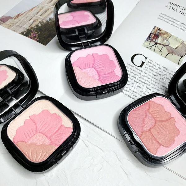 3 Cores Contorno Highlighter Maquiagem Cheek Blush Blush Em Pó Blush Blush Em Pó pó pressionado Fundação Rosto Maquiagem Blush