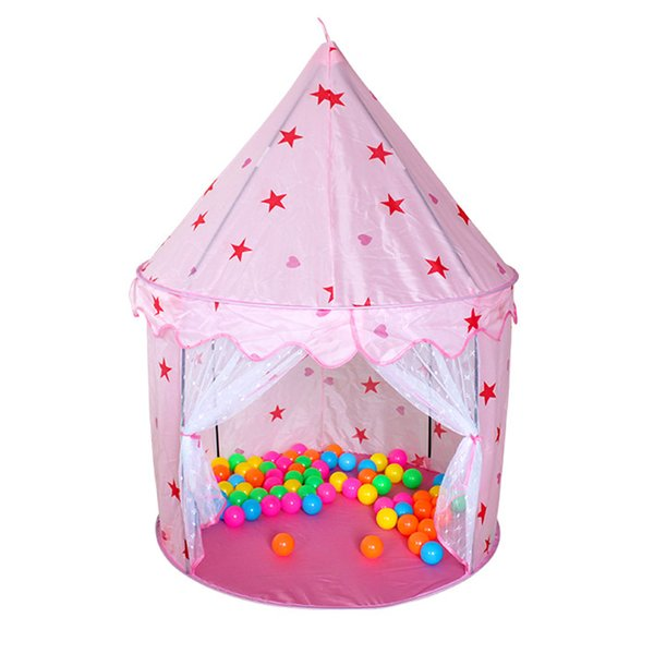 rincess castle Kids House Ocean Ball Play Toy Portable Princess Castle Fold-able Children Indoor Outdoor Playhouse Game Toy Hexagonal T...