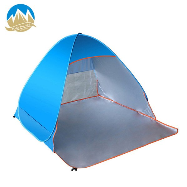 MYJ Automatic Quick Open Beach Tent 2 Persons Instant Pop Up ultralight Anti UV Awning Tents Outdoor Sunshelter