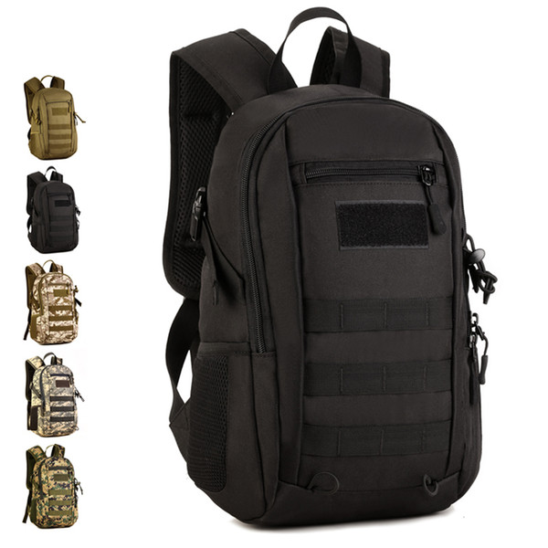 12l mini outdoor travel sports backpack men women camping hiking rucksack fans multi-use tactical bag backpack s429 thumbnail