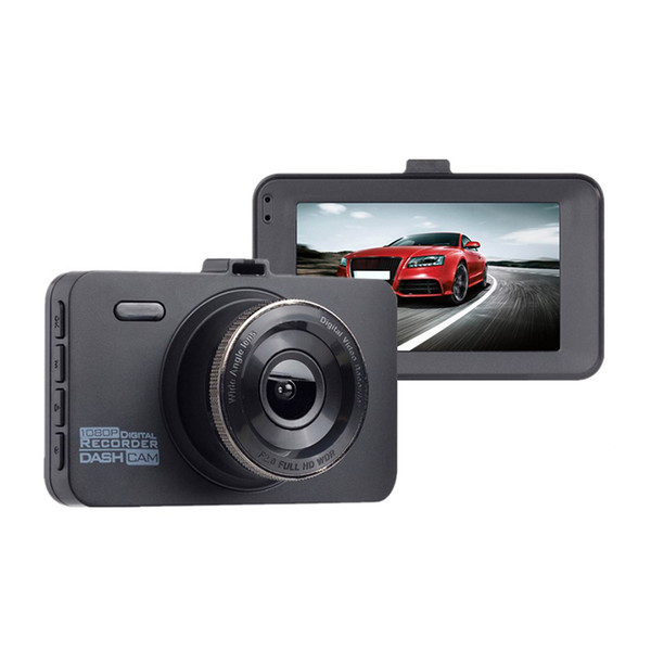 2Pcs Dash Cam, 1080P Car Dvr Dashboard Camera Full Hd With 3 Inch Lcd Screen 170 Degree Wide Angle, Wdr, G-Sensor, Loop Record