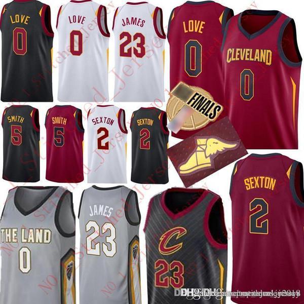 cc782b2dea7d New Cleveland Kevin 0 Love Collin 2 Sexton Cavaliers Jersey LeBron 23 James  JR 5 Smith