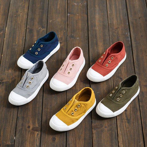 Segeltuchschuhe Casual Outdoor Jungen Mädchen Sneakers Slip Sohlen Anti Niedrige Weiße Schuhe Großhandel Kinder Atmungsaktive Weiche rQWBxEdCoe
