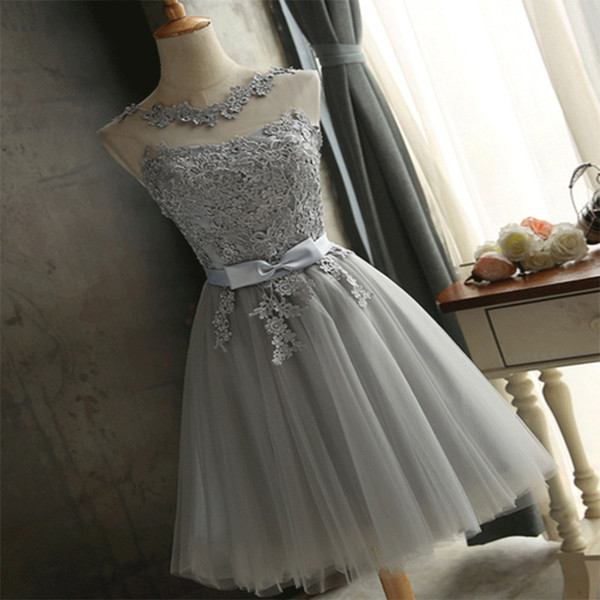 100% Actual Photo Lace Evening Dress Sweet Bestie Skirt Four Colors Bridesmaid Dresses Gauze Skirt Evening Dress