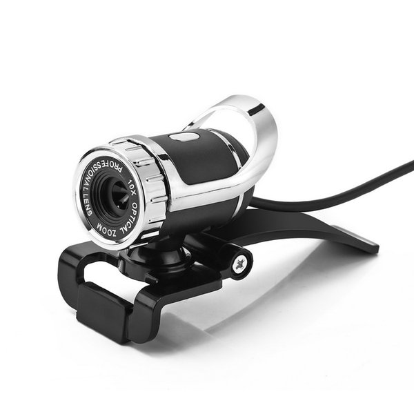 50pcs webcam USB High Definition Camera Web Cam 360 Degree MIC Clip-on For Computer
