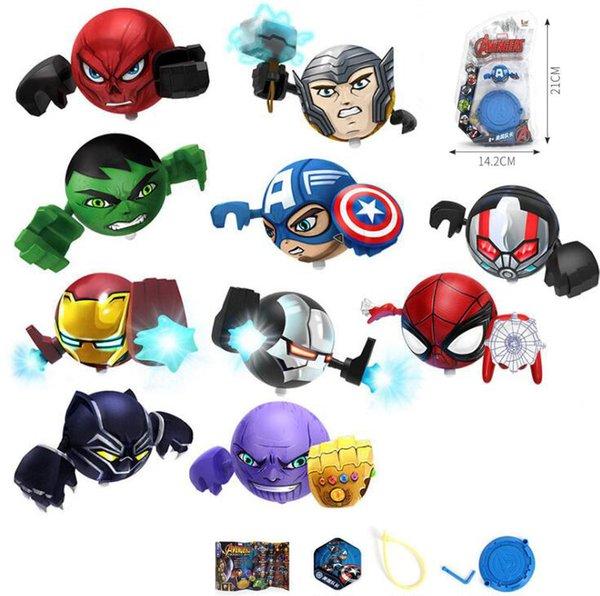 Nueva vengadores figura beyblade con batalla arena rotación de dibujos animados de alta velocidad Juguetes Juguetes para niños Regalo para niños Con paquete al por menor