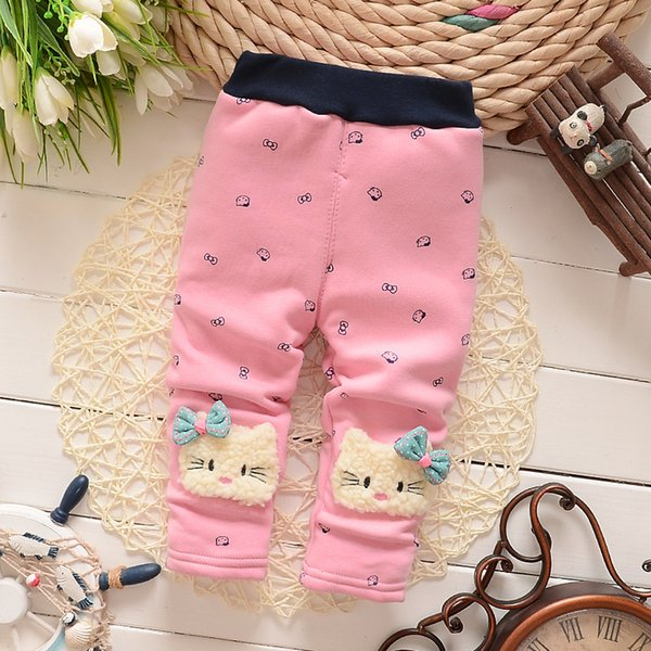 good quality 2019 girls warm pants baby casual winter pants toddler Thicken warm Leggings trousers for girl newborn pants sports