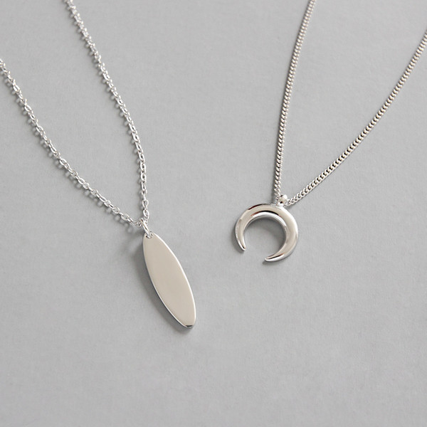 FB Jewels 925 Sterling Silver Geometric Necklace