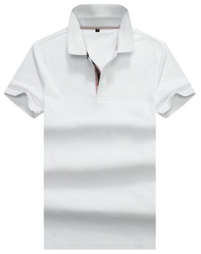 Luxe Printemps Angleterre Hommes Londres Brit Polos Avec Cheval En Coton Solide Polo Shirt Homme Sport Shirts Rouge Marine Bleu S-XXL