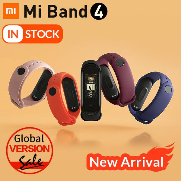 Orijinal Mi Band 4 Akıllı Bilezik Xiaomi band 4 Spor izci İzle Nabız uyku monitör 0.95 inç OLED Ekran Band4 Bluetooth