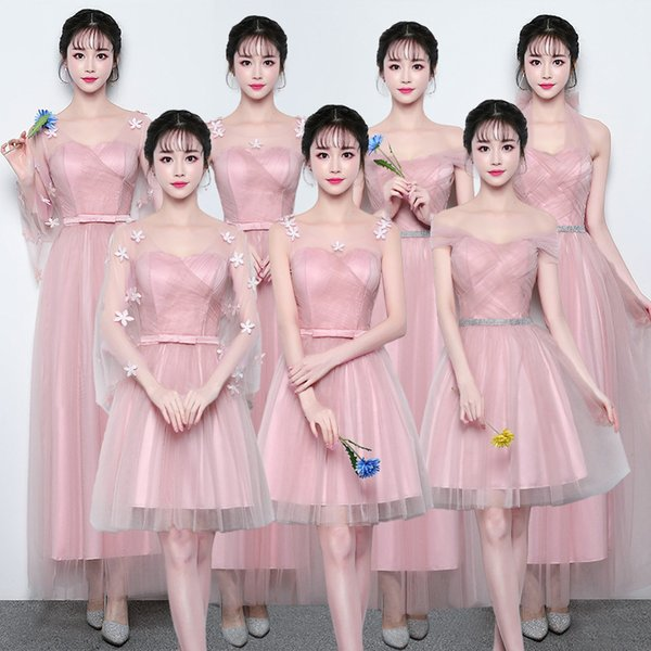 Elegant New Fashion Bridesmaid Dresses for Women Weddings Prom Party Cocktail Elegant Evening Gowns Mesh Tulle Evening Dresses Plus Size