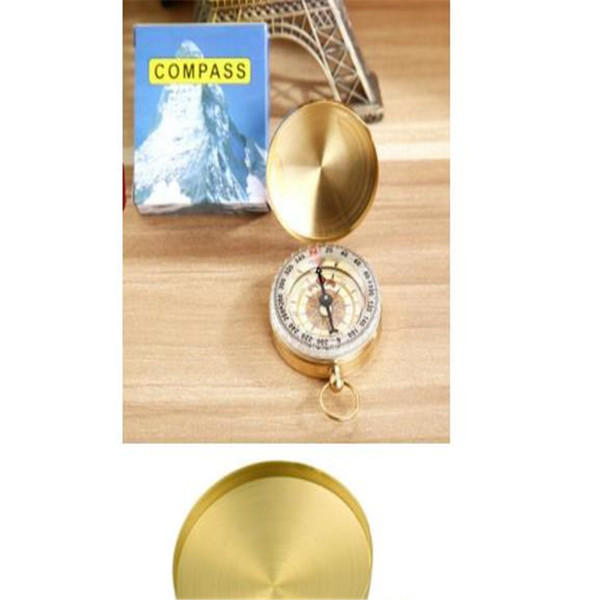 G50 Military Prismatic Sighting Pocket Watch Type Compass Copper Folding Compasses Basic Positioning Outdoor Location Map Pointing Guide