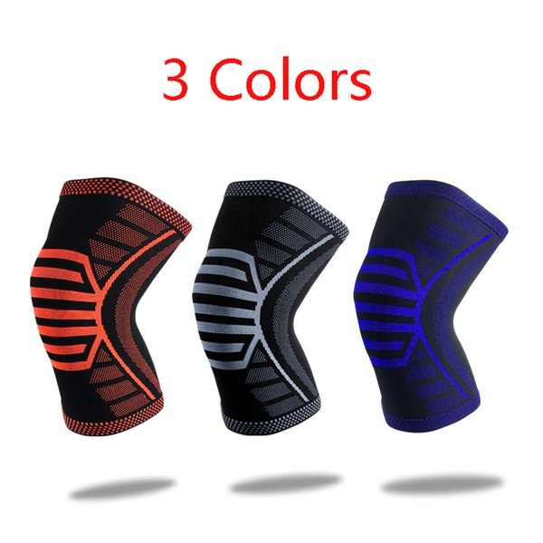 Free DHL 2019 New Breathable Sock Sport Safety Basketball Kneepad Knee Support Brace Compression Sleeve Protector Knee Pads 3 Colors M225F