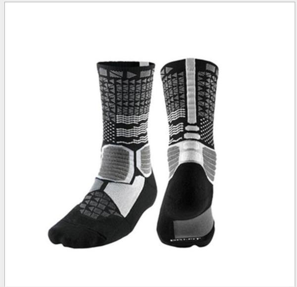 Elite Socks verdickte Handtuch unten Gezeiten Socken hohe untere Deo und schweißabsorbierende Sportsocken für Männer