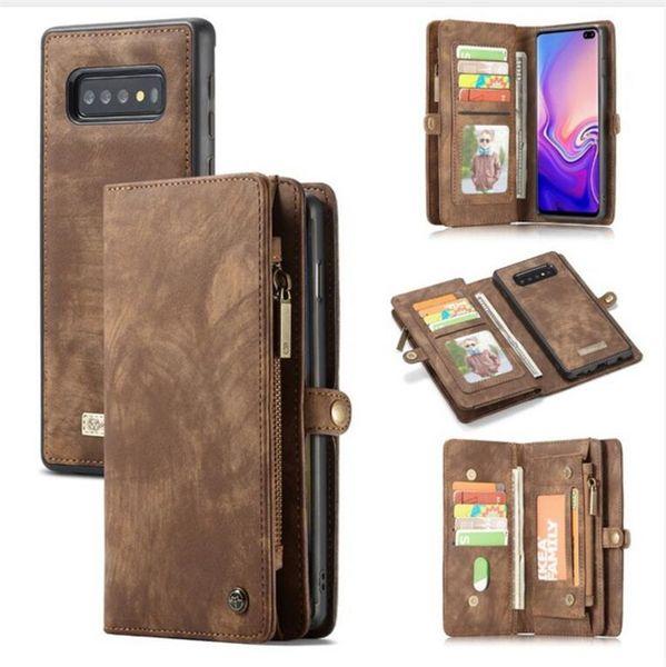 CaseMe para Samsung Galaxy Note 10 Pro S10 Plus S10e Note8 Note 9 S8 S9 S7 Edge A80 A50 Luxury Business Funda de cuero desmontable 2 en 1