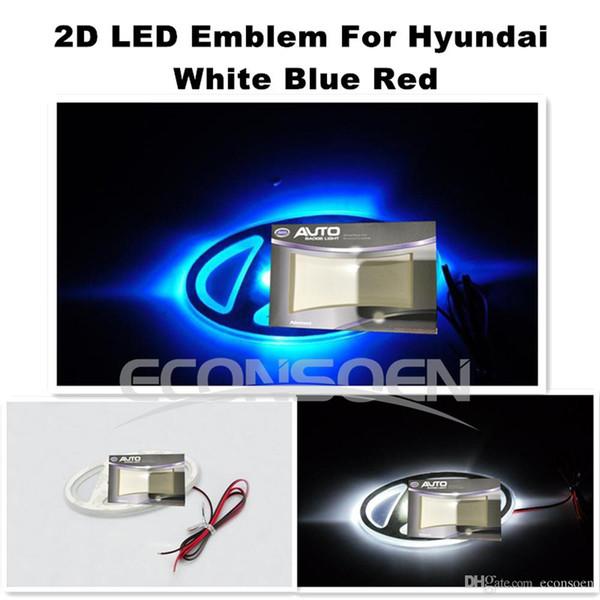La voiture d'Econsoen 2D a mené l'autocollant de logo emblème emblème ampoule de lampe 12V blanc rouge bleu