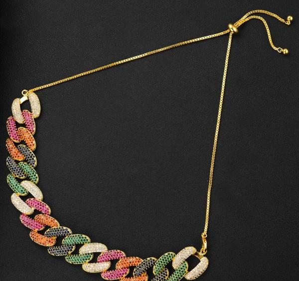 missvikki Роскошные Романтический цепи ожерелье цепи ювелирных изделий для девушки женщин Свадебное Полный Блестящий CZ 2020 Noble Gift