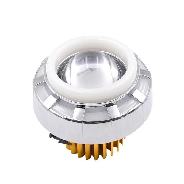 Motorcycle LED 30W 12-85V 1200lm Headlight Angel Eyes Halo Ring Stylish Fog Lights Headlamp (Pink and Blue)