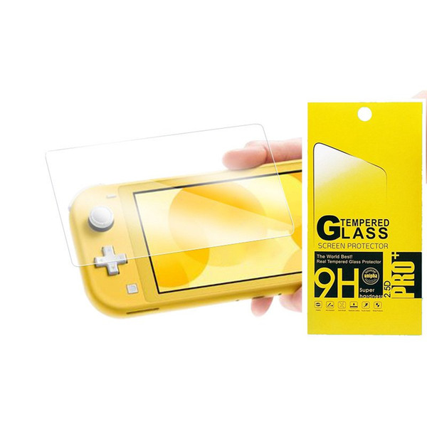For Nintendo Switch Lite 9H Tempered Glass HD Anti-Scratch Glass Screen Protector 1000pcs/lot in retail package