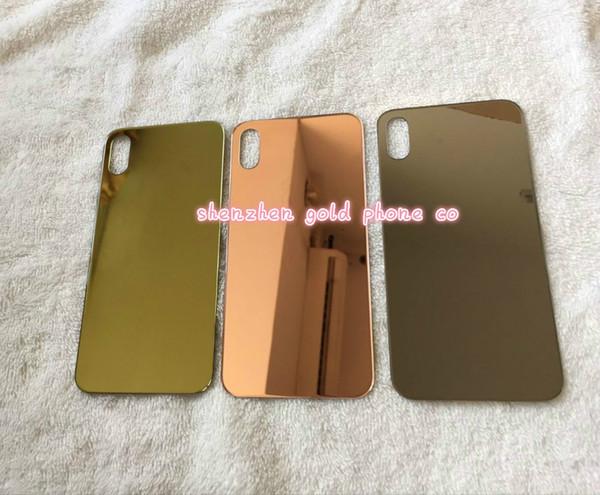original für iphone x batterieabdeckung tür zurück glas gehäuse ersatz zurück glas 24ct gold rose gold 10 stücke viel