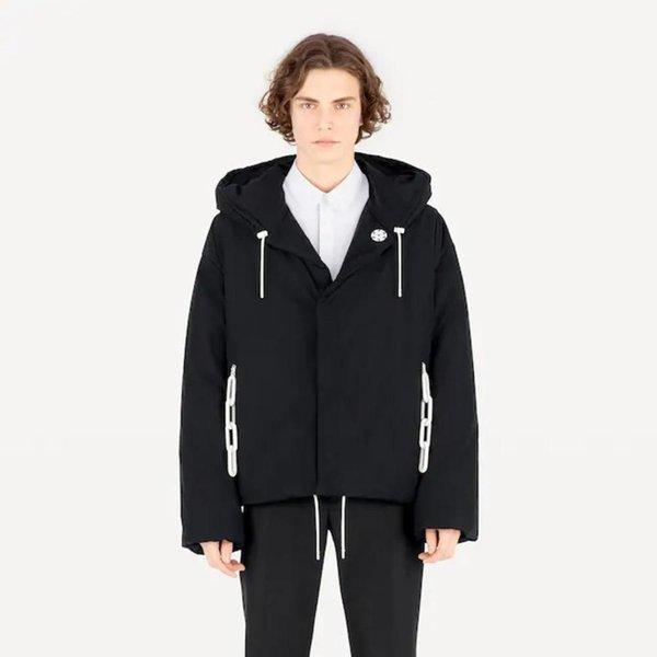 19AW Lüks Avrupa Moda Kapşonlu Gevşek Ceket Uzun Kollu Nakış Coat Çift Kadınlar Ve Erkekler Tasarımcı Oversize Ceket HFXHJK034
