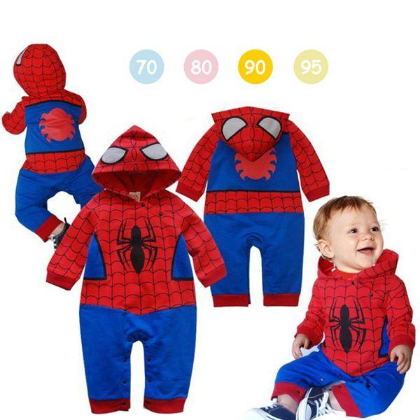 Örümcek adam Erkek Ceket 6 stilleri Çocuklar Bahar Ceket Chirdren Güzel hoodies Giyim spiderman Erkek Giysileri bebek tulumlar AJY637