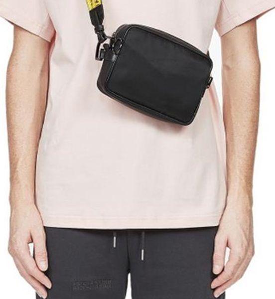 top popular Brand MINI Men off Yellow canvas belt high white Shoulder Bag pu chest bag waist bags multi purpose satchel Shoulder Bag Messenger women 2021