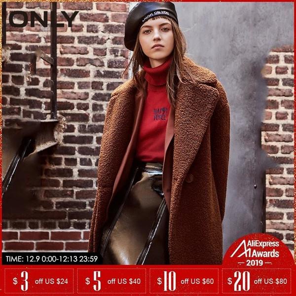 ТОЛЬКО осень зима куртки женщины искусственного мех пальто Повседневной плюшевый медведь Шинель | 118322512 V191209